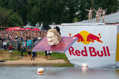 Red Bull Flugtag in Moscow 2013 Royalty Free Stock Images