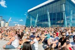 Red Bull Flugtag rywalizacja w Oslo, Norwegia Sierpień 2015 Zdjęcia Stock