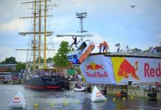 Red Bull Flugtag Varna Bułgaria zwycięzcy Obrazy Stock