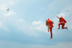 Red Bull Flugtag 2016 a Varna I partecipanti saltano nel mare Fotografia Stock