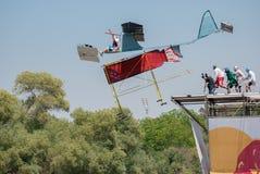 Red Bull Flugtag wydarzenie przy Yarkon parkiem fotografia royalty free