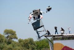 Red Bull Flugtag wydarzenie przy Yarkon parkiem obraz royalty free