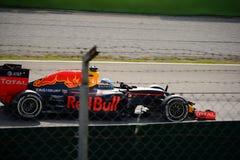 Red Bull-Formel 1 in Monza gefahren von Daniel Ricciardo Stockbilder