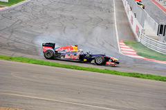 Red bull formula 1 car show Royalty Free Stock Photos