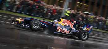 Red bull formula one racing team. In Vilnius Stock Photography