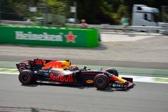 Red Bull Formule 1 die door Max Verstappen wordt gedreven Royalty-vrije Stock Afbeeldingen