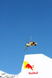Red Bull Freestyle jump Royalty Free Stock Image