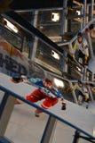 Red Bull ha schiantato la concorrenza del ghiaccio Fotografia Stock Libera da Diritti