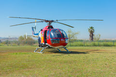 Red Bull helicopter Royalty Free Stock Photos