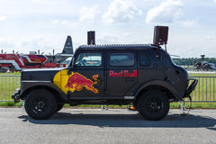 Red Bull Hot Truck on the airfield. Royalty Free Stock Photos