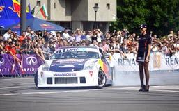 Red Bull-Kampioenenparade op de straten van Kyiv Royalty-vrije Stock Afbeelding