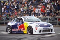 Red Bull-Kampioenenparade op de straten van Kyiv Stock Foto