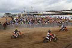 Red Bull knock out motocross in Holland Royalty Free Stock Photos