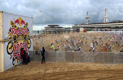 Red Bull knock out motocross in Holland Stock Images