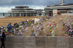 Red Bull knock out motocross in Holland Stock Image