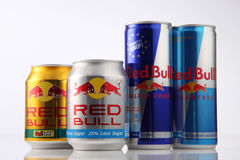 Red bull. Kuala Lumpur,Malaysia,5th Aug 2016,red bull group aluminum can on the white background Stock Images