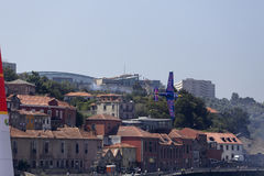 Red Bull-Luchtras Porto Stock Foto's