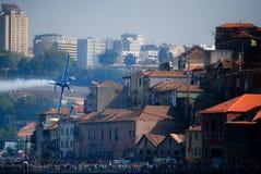 Red Bull luftlopp i Oporto Arkivfoto