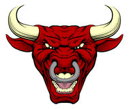 Red bull mascot face Royalty Free Stock Images