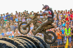 Red Bull 111 Mega Watt: Motocross and hard enduro race Royalty Free Stock Images