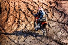 Red Bull 111 Mega Watt: Motocross and hard enduro race Stock Images
