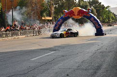 Red Bull Motor Show. Baku 17.06.2012. In Baku, 17.6 .2012 at a makeshift racetrack at the prospect of Petroleum in the city center demonstration race team took Royalty Free Stock Image