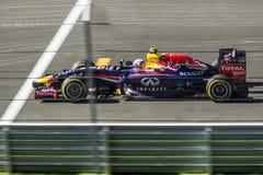 Red Bull na trilha, o autodrom de Sochi Imagens de Stock