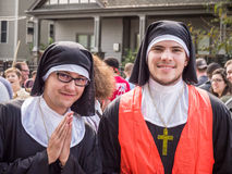 Red Bull Nuns Royalty Free Stock Image