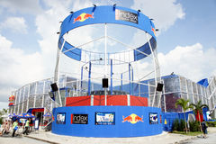 Red Bull Pavilion, BOI Fair 2011 Thailand Stock Photography
