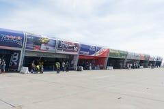 Red Bull pokazu lotniczego rasy hangar Fotografia Royalty Free