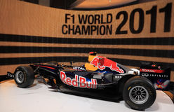 Red Bull que compite con RB7 Renault Imagen de archivo
