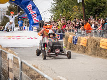Red Bull Racer With Animal On Back Royalty Free Stock Photo