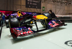 Red Bull RB8 en Ginebra 2014 Fotos de archivo