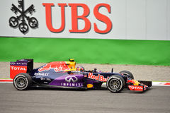 Red Bull RB11 F1 conduit par Daniil Kvyat à Monza Photographie stock