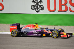 Red Bull RB11 F1 driven by Daniel Ricciardo at Monza Royalty Free Stock Photography