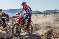Red Bull Sea To Sky. 2016 Antalya, TURKEY. Day 1, Beach Race. A circuit race requires two different riding styles; Motocross & Enduro Stock Photo