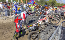 Red Bull Sea To Sky. Antalya, TURKEY.  Day 1, Beach race. Riders has to compete in a circuit race against time in Motocross & Super Enduro styles Stock Photography
