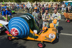 Red Bull Soapbox Bucharest 2014 Arkivfoton