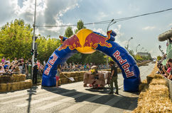 Red Bull Soapbox Bucharest 2014 Royaltyfria Foton