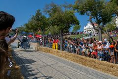 3 Red Bull Soapbox race grand prize in Lisbon Royalty Free Stock Images