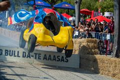 3 Red Bull Soapbox race grand prize in Lisbon Royalty Free Stock Photos