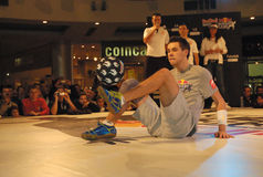 Red Bull Street Style Soccer Contest-9 Royalty Free Stock Photos