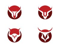 Red Bull Taurus Logo. Template vector icon illustration Royalty Free Stock Image