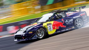 Red Bull Team drifting at Formula Drift 2010 Royalty Free Stock Image