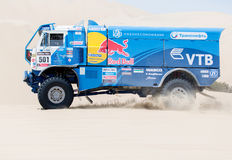Red Bull team races in Dakar 2013 Stock Photography