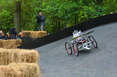 The Red Bull Trolley Grand Prix 2015. AUCKLAND - NOV 22 2015:Dream trolley race at Red Bull Trolley Grand Prix.It's a novelty downhill race of unpowered vehicles Royalty Free Stock Photography