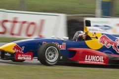 Now a Formula 1 driver, Daniil Kvyat in the Red Bu Stock Image
