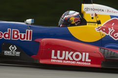 Danill Kyvat in the Red Bull TRS series race car Royalty Free Stock Photography