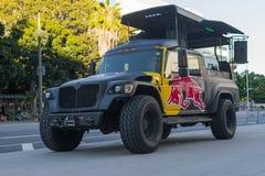 Red Bull truck music station Stock Image