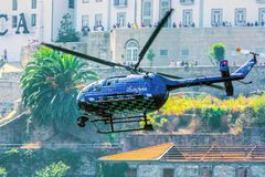 Red Bull TV Helicopter Stock Image